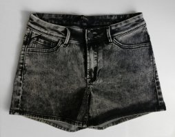 Ichi Acid Washed High Waist Jeans Hot Pants Gr. 36 Neu