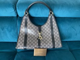 Iconic Gucci Jackie Hobo Bag in coated  canvas and