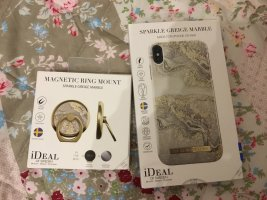 Ideal of Sweden Hülle+Ring IPhone XS Max Sparkle Greige Marbel