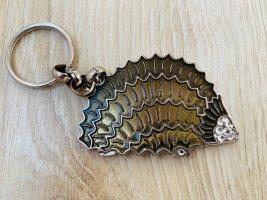 Igel Schlüsselanhänger Braun Silber mit Strass von Braccialini