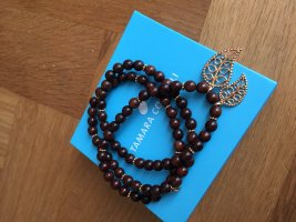 TAMARA COMOLLI Gold Bracelet dark brown-sand brown wood