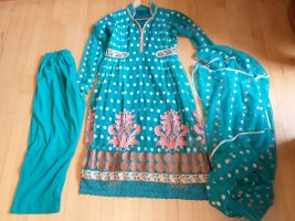 Tailleur turquoise