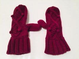 Indiska Mittens purple mixture fibre