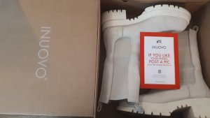 Inuovo Cunky Boots Stiefelette Offwhite weiss creme 38 neu