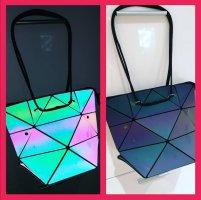 irisierende reflektierede Handtasche Rucksack ❤️