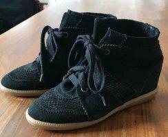 Isabel Marant Black Bobby Wedge Sneakers Damen, schwarz, Größe 40