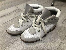 Isabel Marant Bobby Schuhe Sneaker 39 weiß beige Leder Wedge