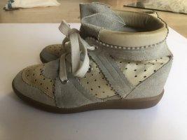 Isabel Marant Bobby Sneakers Wedges Beige Leder Velours Gr. 39