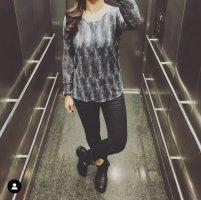 Isabel Marant H&M Shirt Top S 36 blau Langarm leicht