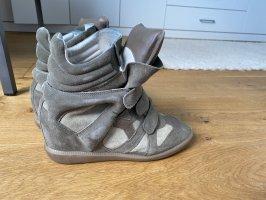 Isabel Marant Wedge Sneaker green grey