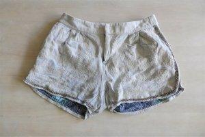 Isato kurze Hose Shorts Hotpants Stick hellblau grau Gr. 36/38 S M