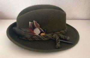 Ischler Folkloristische hoed donkergroen-khaki