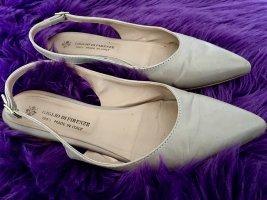 Ital Designer Schuhe Giglio di Firenze npr 229 Taupe nude gr 38 weichstes Leder Ballerinas