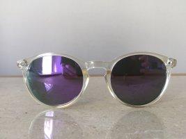 Italiano by Zagato Verspiegelte Sonnenbrille mit transparentem Rahmen, grau/ lila Gläser