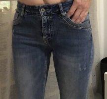 Italienische Jeans Stretch Made in P.C.R. mit Pailletten