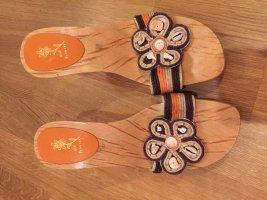 Italienische Pantoletten Holz