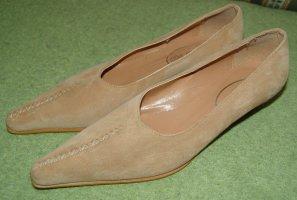 Loafers zandig bruin Leer