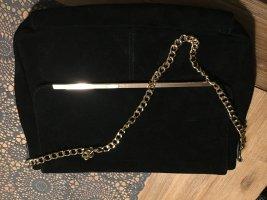Italienische Tasche aus Wildleder mit goldener Kette