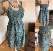 Antica Sartoria Lace Dress blue-steel blue