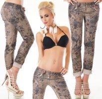 Made in Italy Pantalone cinque tasche multicolore Cotone