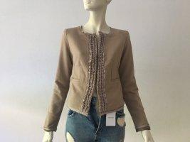 IVI Collection Gr. 38 braun ausgefallene Jacke Blazer sehr edel