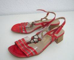 Sandalen met bandjes en hoge hakken rood