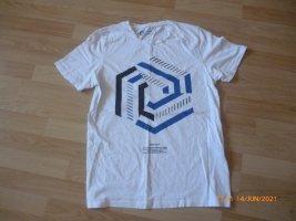 JACK&JONES Core T-Shirt gr L weiß mit Print Top Zustand