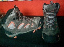 Jack Wolfskin Aanrijg laarzen donkergrijs-neonroos