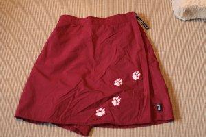 Jack Wolfskin Gonna culotte rosso Tessuto misto