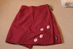 Jack Wolfskin Falda pantalón rojo tejido mezclado