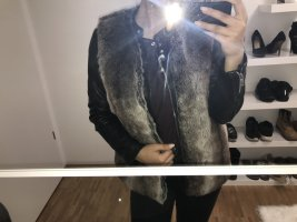 Forever 21 Fake Fur Vest multicolored