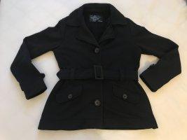 Jacke aus Baumwolle, S.Oliver, Schwarz, Gr. 38 Mit Gürtel