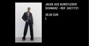 Jacke aus Kunstleder ZARA L