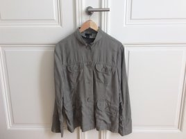 H&M Safari Jacket khaki-olive green linen