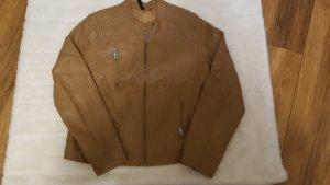 Veste en cuir synthétique bronze