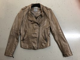 17&co Faux Leather Jacket gold-colored