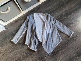 Jacke cardigan Chiffon weiß unterjacke grau Blazer Stoffblazer s.Oliver