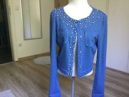 Cristina Gavioli Short Jacket neon blue wool