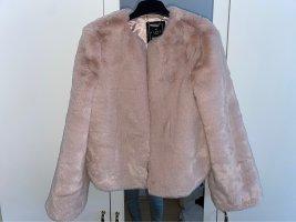 lipsy london Fur Jacket light pink