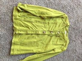 Gina Laura Chaqueta estilo camisa amarillo limón tejido mezclado