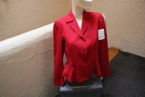 Apart Short Jacket brick red mixture fibre