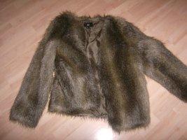 H&M Giacca in eco pelliccia marrone chiaro-color cammello Poliestere