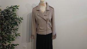 Amisu Faux Leather Jacket camel polyester