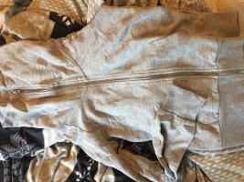Giacca-camicia grigio chiaro-color carne