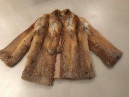 Leppen Veste de fourrure beige-brun fourrure