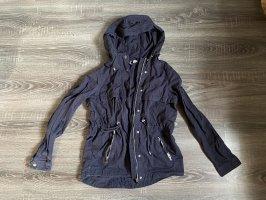 Jacke Übergangsjacke dunkelblau marineblau H&M kapuzenjacke Parka