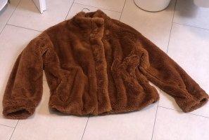 1 NY tee Veste imitation fourrure brun