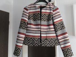 Comma Blazer in tweed multicolore Cotone