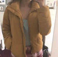 Jacqueline de yong pufferjacke puffer jacket gelb daunenjacke streetwear