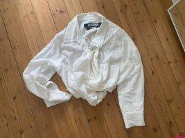 Jacquemus Kopertowa bluzka biały-w kolorze białej wełny